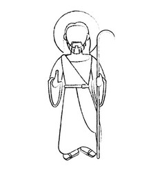 Jesus christ devotion sacrifice sketch vector