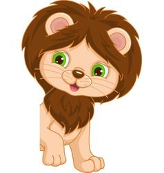 Lion Place Card vector image