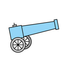 old cannon isolated icon vector image