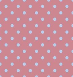 Seamless polka dot red pattern with circles vector image