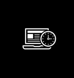 time management icon business concept flat vector image vector image