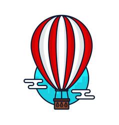 vintage hot air balloon modern vector image vector image