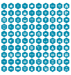 100 private property icons sapphirine violet vector image vector image