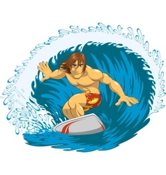 Extreme surfing vector image