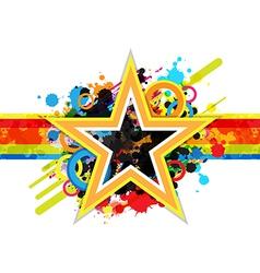 fantastic star design background vector image vector image