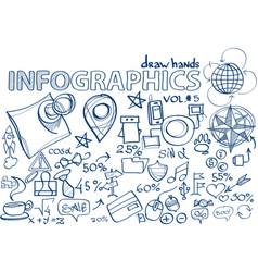 hand draw infographics vol 5 vector image