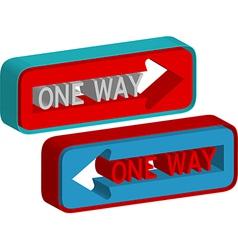 One way vector image