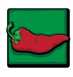 red pepper clip art vector image vector image
