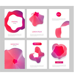 abstract backgrounds with generative design forms vector image vector image
