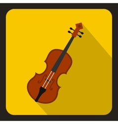 Cello icon flat style vector image vector image