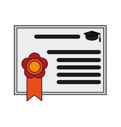graduation diploma achievement vector image vector image