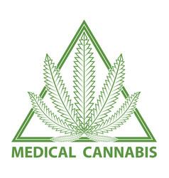 Medical cannabis marijuana logo vector