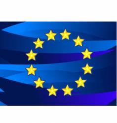 Flag of european union vector