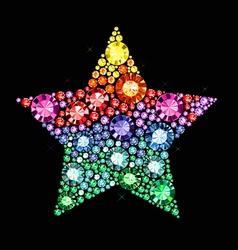 Gem Star vector image