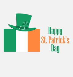 happy st patricks day festive background vector image vector image