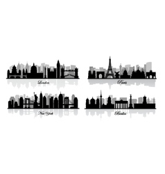 London new york berlin and paris vector