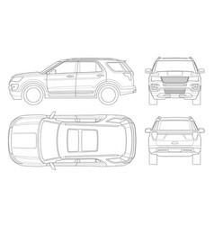 outline off-road write car or modern vip transport vector image vector image