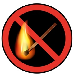 sign ban open flames vector image