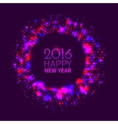 Abstract purple round frame vector