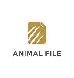 Animal file data document folder storage claw vector