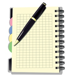 Appointment Book with Pen vector