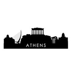 Athens skyline silhouette black city vector