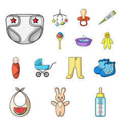 birth of a baby cartoon icons in set collection vector image