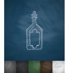Bottle icon Hand drawn vector