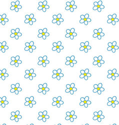 Chamomile pattern vector