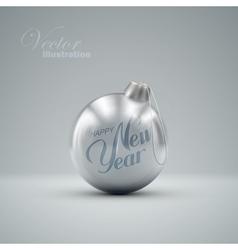 Christmas ball Happy New Year vector