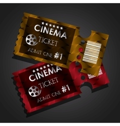 Cinema tickets design vector image