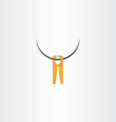 Clothespin icon symbol vector