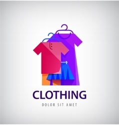 Clothing logo online shop fashion icon vector