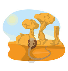 cobra in the desert vector image