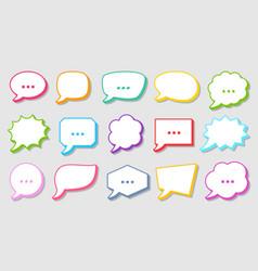 comic pop art speech bubbles colorful retro frames vector image