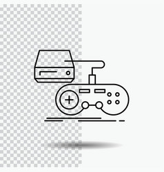 Console game gaming playstation play line icon on vector