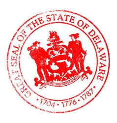 Delaware seal stamp vector