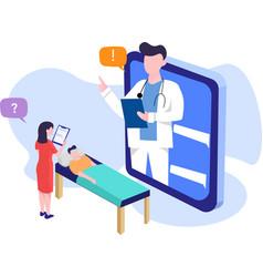 doctor give a medicine website vector image