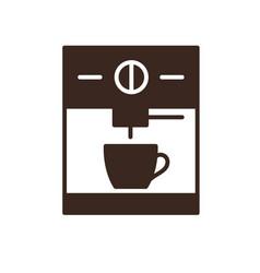 Espresso machine isolated linear icon vector