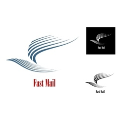Fast mail symbol vector image