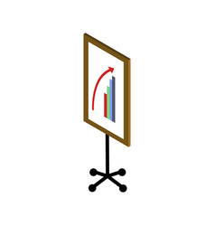 frame with graphs vector image