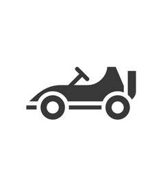 go kart or racing car icon amusement park related vector image