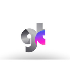 Gt g t silver grey metal metallic gradient vector