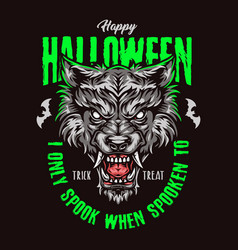 Halloween colorful label vector