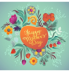 Happy mothers day hand-drawn calligraphy vector