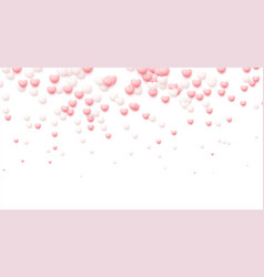 happy valentines day festive background flying vector image