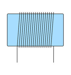 Inductor coil icon vector