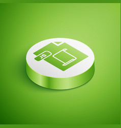 Isometric js file document download js button vector