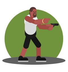 man with gun vector image