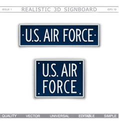 military signboard us air force vector image
